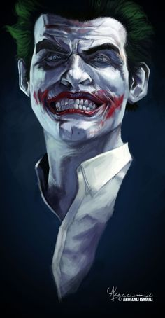 Joker by Abdelali Ismaili Joker Images, Joker Pics, Joker Art, Joker Comic, Im Batman, Batman Art, Gotham Batman, Batman Robin, Dc Comics Art