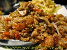 Recette de cuisine de l'ile Maurice, cuisine mauricienne de tous les jours: Riz sauté aux crevettes