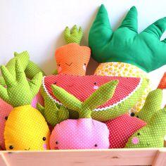 Tamago Craft fruits anf veggies plushes www.tamagocraft.blogspot.it