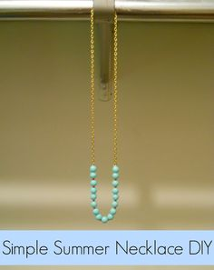 Simple Summer Necklace DIY