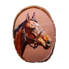 Horse portrait cushion