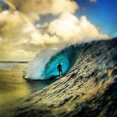 In the waves eye