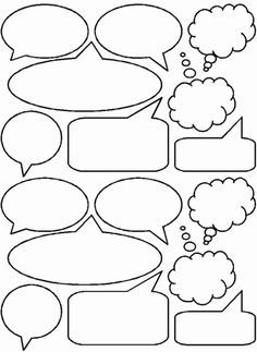 Comic Book Speech Bubbles Printable  Clipart Best  Writing