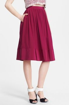 full skirt -- love the color!