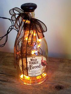 Mini Lights in Liquor Bottle