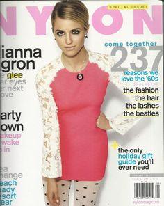 Nylon fashion magazine Dianna Agron The Beatles Party makeup Beach resort wear
