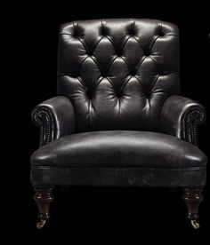 Traditional sofa / leather / 4-seater - MUSTANG - Fleming & Howland
