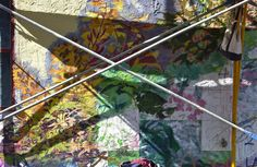 Mural detail; light, shadow; Chestnut Hill Street Fair; Philadelphia, Pennsylvania, USA.  October 2012.