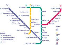 Mappa della metropolitana di Lisbona - Cartina della metropolitana di Lisbona