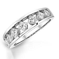 Ladies Princess Cut Diamond Anniversary Band, 1/2 ctw   Morgan Jewelers