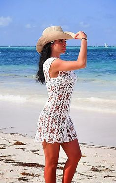 Crochet Cover Up ~ Diagrams/Charts Only | Inspirações de Croche com Any Lucy: Saída de Praia