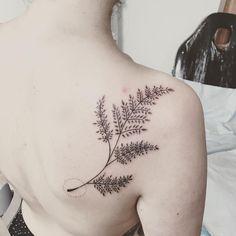 Large fern frond by @dabytz_tattoo