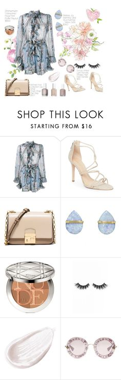 """""""12."""" by annmak ❤ liked on Polyvore featuring Zimmermann, Schutz, Michael Kors, Melissa Joy Manning, Christian Dior, Violet Voss, Jouer and Gucci"""
