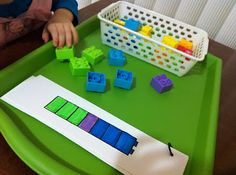 Lego matching and counting activity