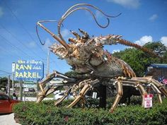 Photograph roadside curiosities like this Giant lobster at Rain Barrel Village -  Florida Keys