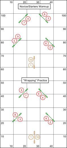 Two Christmas tree shaped agility courses NOVICE/STARTERS WARMUP!