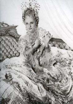 NORMA SHEARER in Marie Antoinette wearing Joseff Hollywood Jewelry