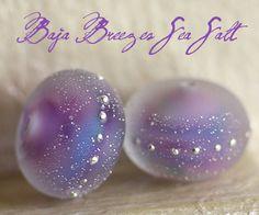 Lampwork Beads - Baja Breezes Sea Salt Round Duo, $15.00 (http://www.thelampworkbeads.com/baja-breezes-sea-salt-round-duo/)