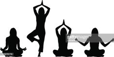 Clipart vectoriel : positions de Yoga-femme