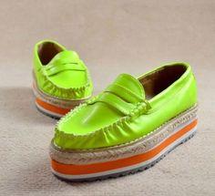 Hot Sale Graceful Platform Shoes Green XZ11101214.http://www.clothing-dropship.com