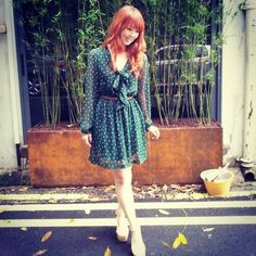 Bangkok Green Polkadot Dress - Polka Polka! - Yan Yan