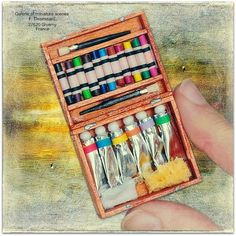 Mini paint set--I wonder if there's paint in the tubes!