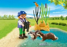 Playmobil : Enfant avec loutres - Castello | Jeux et Jouets