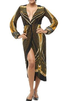 Roberto Cavalli – Dress Black/Yellow/White « Clothing Impulse
