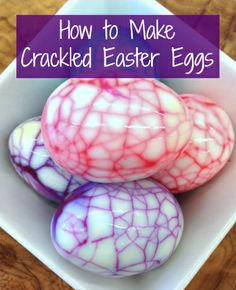 Kick your egg-dyeing technique up a notch with this easy-to-recreate crackle effect. #Easter