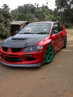 #SouthwestEngines Modified Mitsubishi Evo 8mr 2003....not sure I dig the green wheels but the rest of it is awesome.