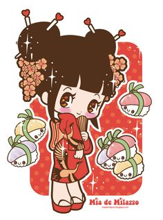 Flower ...[]... Art Kawaii Girl