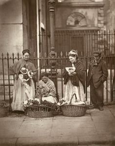 Covent Garden Flower sellers, ca.1890