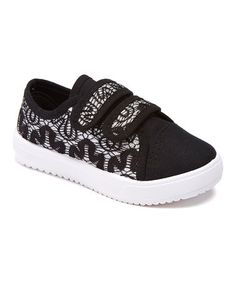This Black Lace-Accent Sneaker is perfect! #zulilyfinds