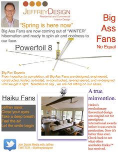 Jeffrey Design Blog - Big Ass Fans #haiku #bigassfans