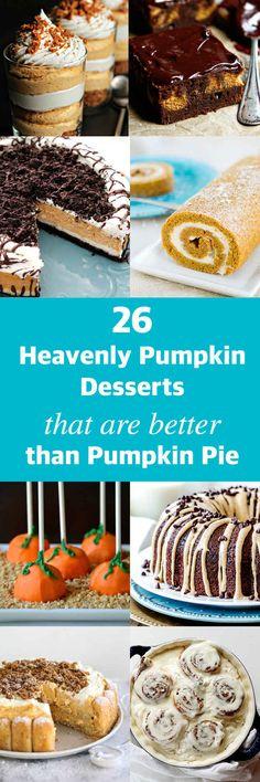 26 Heavenly Pumpkin Desserts That Are Better Than Pumpkin Pie