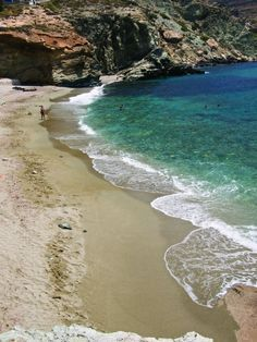 Agali beach in Folegandros island, Gr. Vacation Trips, Dream Vacations, Vacation Spots, Places To Travel, Places To Visit, Travel Destinations, Places In Greece, Santorini Greece, Greece Travel