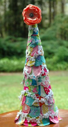 A Christmas tree made out of Lilly fabric!  #LillyHoliday