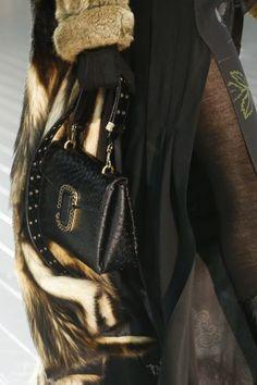 Marc Jacobs Black Ostrich Flap Bag - Fall 2016