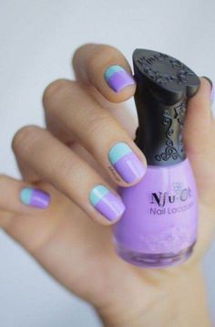 40 Easy Nail Art Designs for Beginners - Simple Nail Art Design Clear Nail Designs, Purple Nail Designs, Simple Nail Art Designs, Easy Nail Art, Nails After Acrylics, Acrylic Nails, Lime Crime, Nagellack Design, Nails For Kids