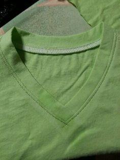 v neck using same shirt material.