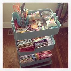 I NEED this! It's from Ikea! My cute cart in action! by kelbysews, via Flickr