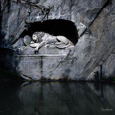 The Dying Lion of Lucerne.  #lucerne #luzern #lionoflucerne #nikon