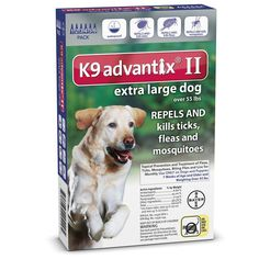 6 MONTH K9 ADVANTIX Blue (For dogs over 55lbs) ** Hurry! Check out this great product : Flea and Tick Control