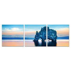 Porthos Home PL Home 'Pastel Landscape' 3-piece Split-canvas Print