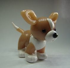 Little Chihuahua Miniature Polymer Clay Dog by iCraftCreations