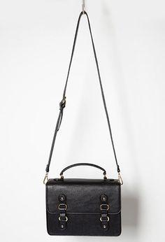 Faux Leather Messenger Bag  03e40da1efc9d