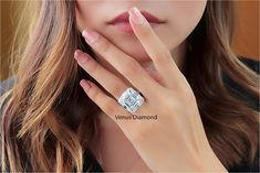 Asscher Diamond Engagement Ring 10.88 carat K color VVS Asscher Cut Diamond Engagement Ring, Diamond Cuts, Color, Jewelry, Jewlery, Jewerly, Colour, Schmuck, Jewels