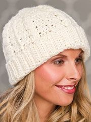 free pattern cable crochet hat