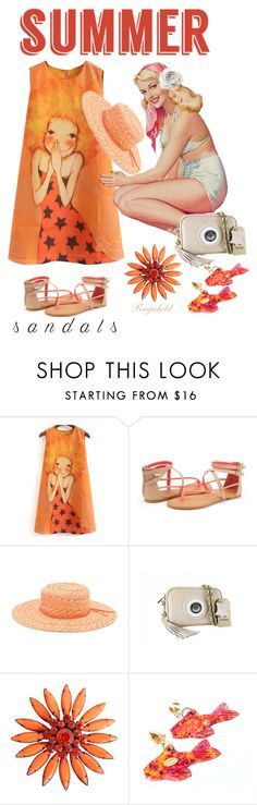 """The Cutest Summer Sandals"" by ragnh-mjos on Polyvore featuring Roxy and Yves Saint Laurent"