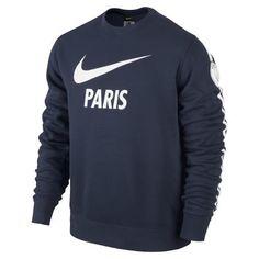 Nike | Paris Saint-Germain Club Core Crew Sweatshirt Herren | blau-weiß | VAOLA